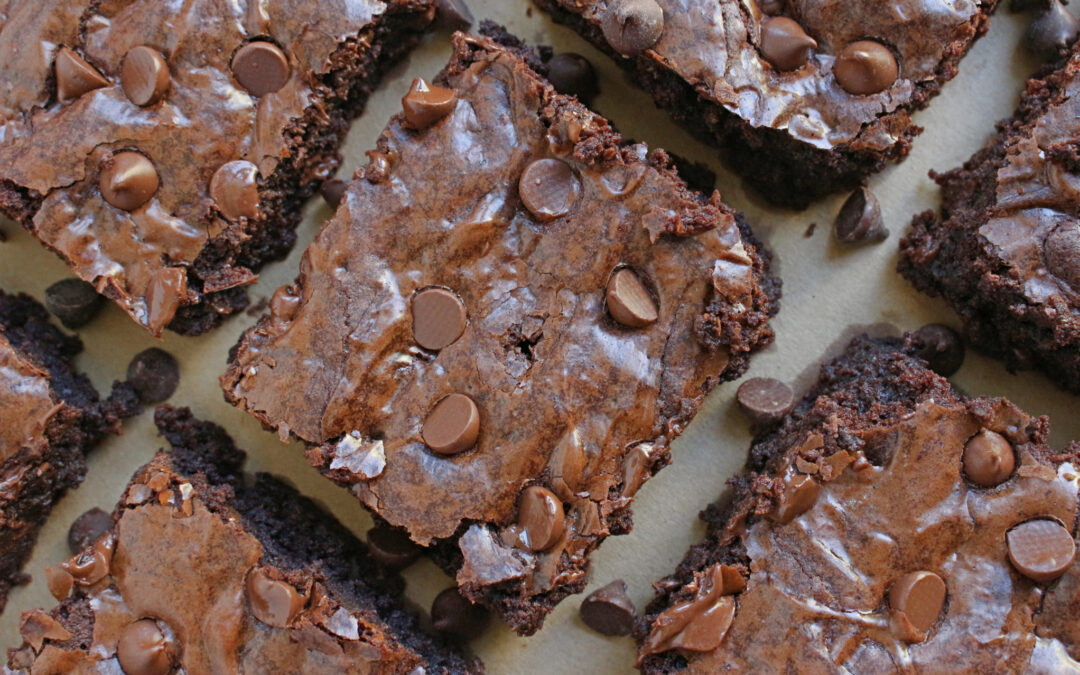 Sgt Peppermint Mint Choc Chip Brownies